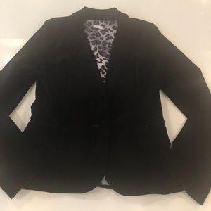 Aqua Black Velvet Blazer size Medium
